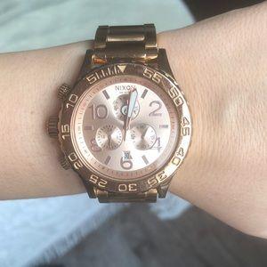 Nixon Accessories - Women's rose gold Nixon watch